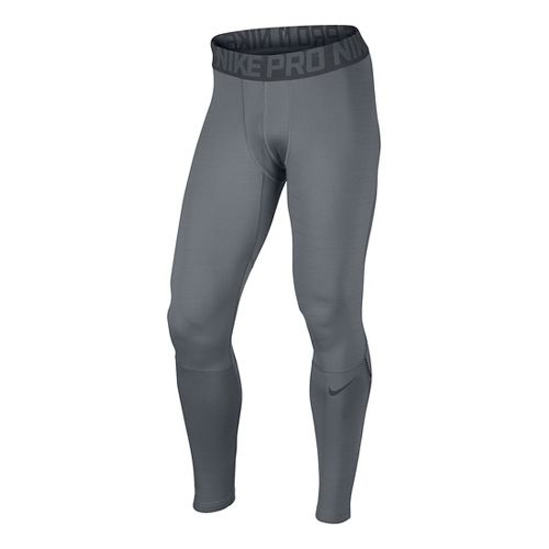 Mens Nike Hyperwarm Full Length Tights - Cool Grey S