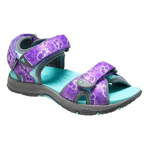 Kids Merrell Surf Strap Sandal 2.0 Shoe - Grey/Purple 4Y