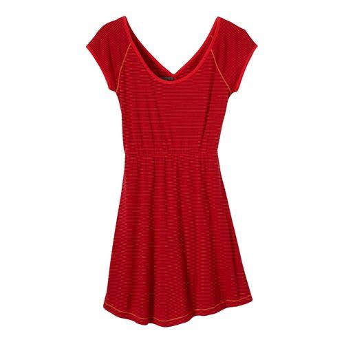 Womens Prana Faith Dress Fitness Skirts - Cherry Pop XL