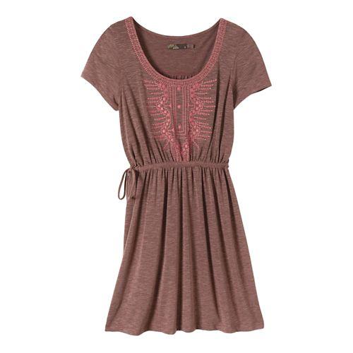 Womens Prana Bess Dress Fitness Skirts - Raisin S