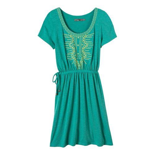 Womens Prana Bess Dress Fitness Skirts - Dynasty Green S