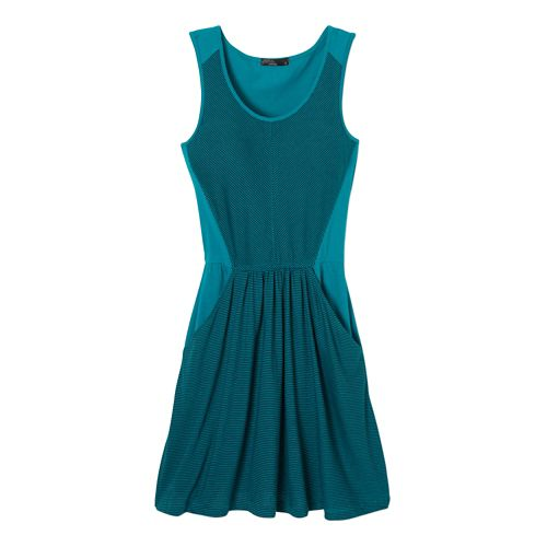 Womens Prana Maisy Dress Fitness Skirts - Sea Green XL