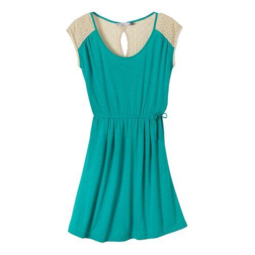 Womens Prana Angelina Dress Fitness Skirts - Dynasty Green S