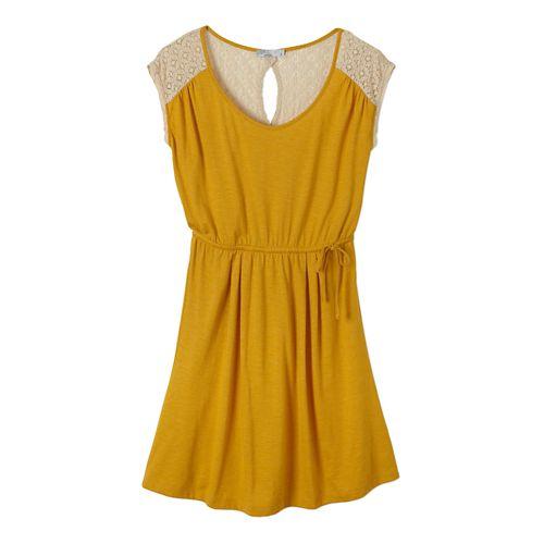 Womens Prana Angelina Dress Fitness Skirts - Marigold XS