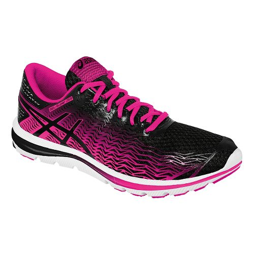 Womens ASICS GEL-Super J33 2 Running Shoe - Black/Pink 8