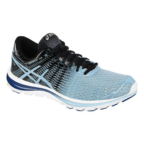 Womens ASICS GEL-Super J33 2 Running Shoe - Light Blue/Black 9.5