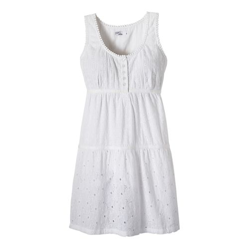 Womens Prana Kendall Dress Fitness Skirts - White M