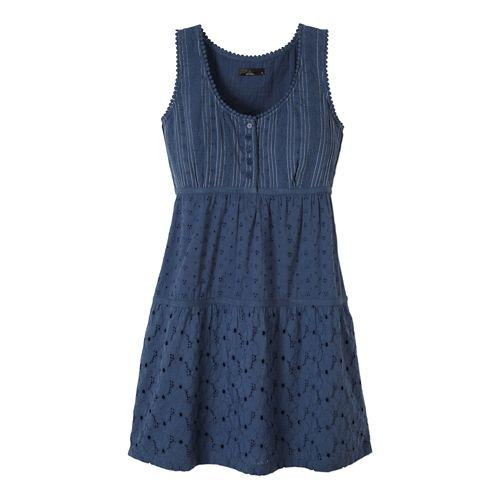 Womens Prana Kendall Dress Fitness Skirts - Blue Ridge L