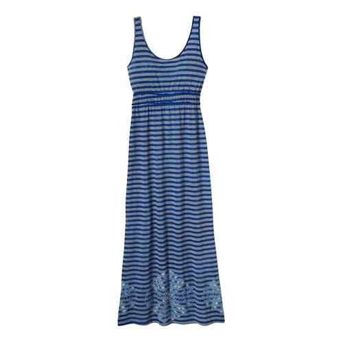 Womens Prana Adrienne Dress Fitness Skirts - Sail Blue XXL