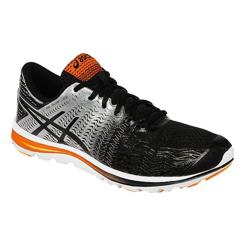 Mens ASICS GEL-Super J33 2 Running Shoe - Black/Silver 11.5
