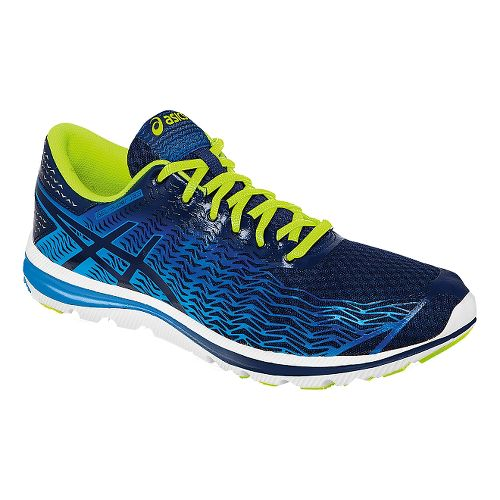 Mens ASICS GEL-Super J33 2 Running Shoe - Blue/Flash Yellow 10.5
