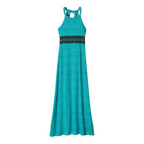 Womens Prana Skye Dress Fitness Skirts - Dynasty Green S