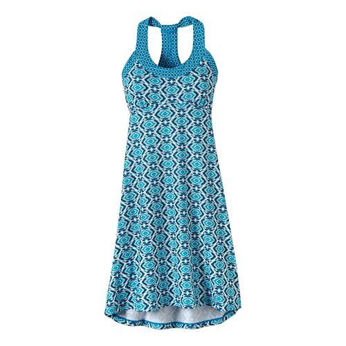 Womens Prana Cali Dresses - Blue Guava XS