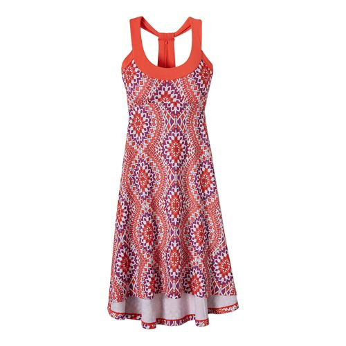 Womens Prana Cali Dress Fitness Skirts - Coral Gardenia XS