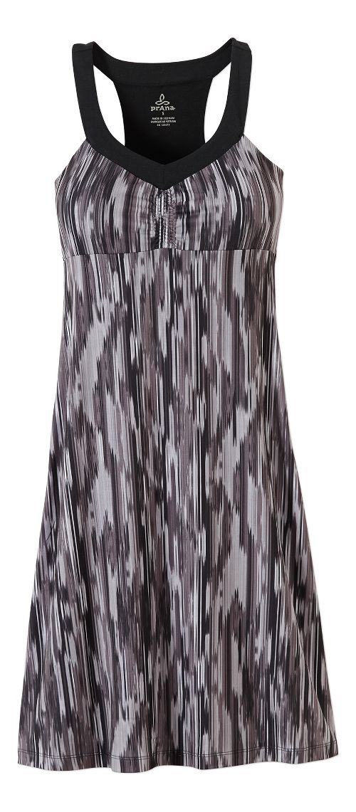 Womens Prana Shauna Dresses - Black Rainblur XS