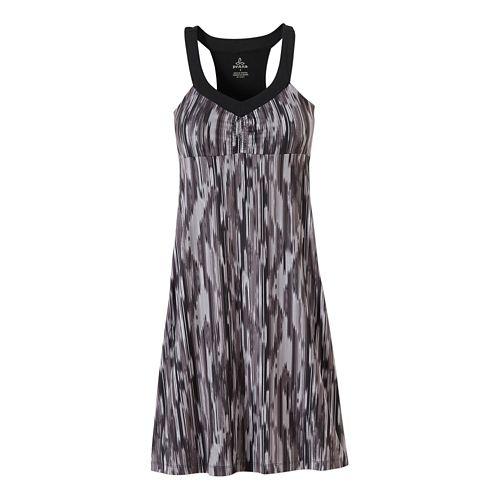 Womens Prana Shauna Dresses - Black Rainblur L
