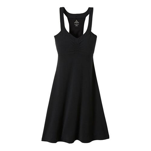 Womens Prana Shauna Dress Fitness Skirts - Black XS
