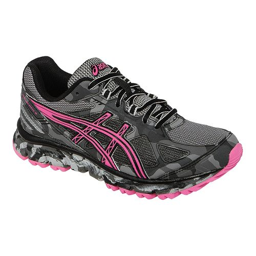 Womens ASICS GEL-Scram 2 Trail Running Shoe - Titanium/Pink 10