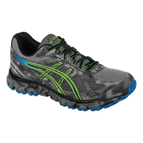 Mens ASICS GEL-Scram 2 Trail Running Shoe - Carbon/Green 10.5