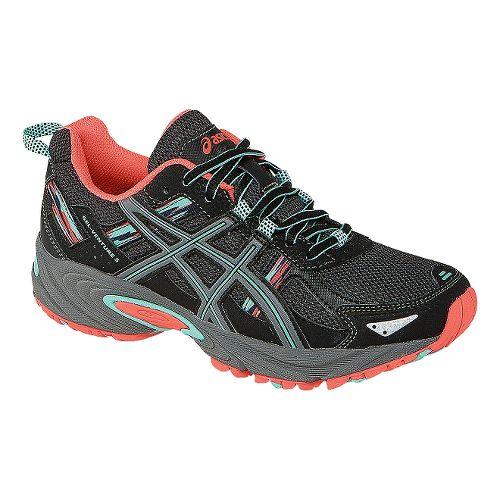 Womens ASICS GEL-Venture 5 Trail Running Shoe - Black/Mint 9.5