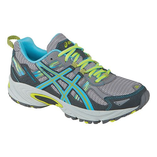 Womens ASICS GEL-Venture 5 Trail Running Shoe - Grey/Turquoise 7.5