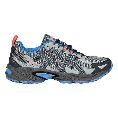 Womens ASICS GEL-Venture 5 Trail Running Shoe - Sliver/Carbon 12