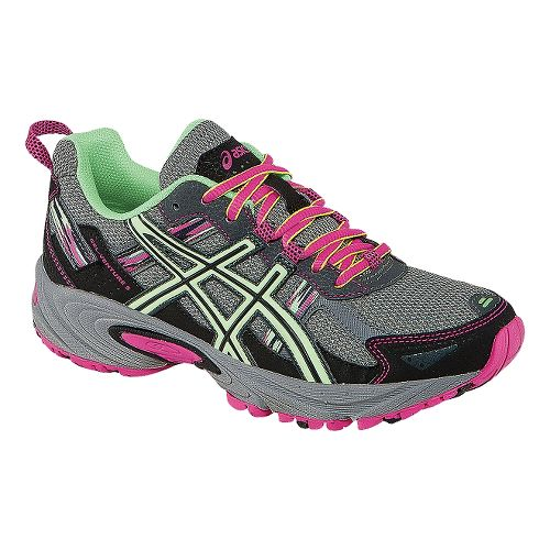Womens ASICS GEL-Venture 5 Trail Running Shoe - Titanium/Pistachio 9.5