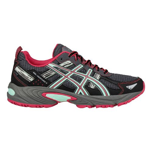 Womens ASICS GEL-Venture 5 Trail Running Shoe - Carbon/Pink 9