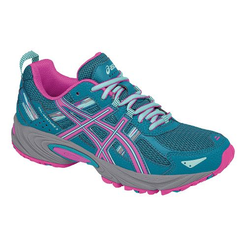Womens ASICS GEL-Venture 5 Trail Running Shoe - Blue/Pink 10