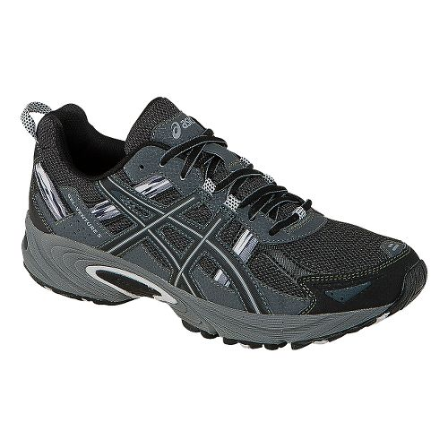 Mens ASICS GEL-Venture 5 Trail Running Shoe - Black/Onyx 11