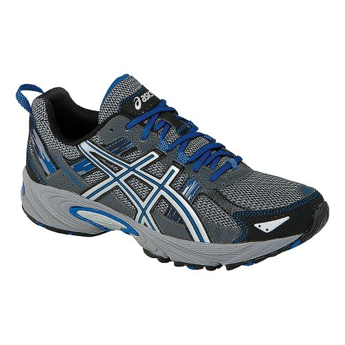 Mens ASICS GEL-Venture 5 Trail Running Shoe - Silver/Royal 9