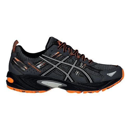 Mens ASICS GEL-Venture 5 Trail Running Shoe - Black/Orange 9