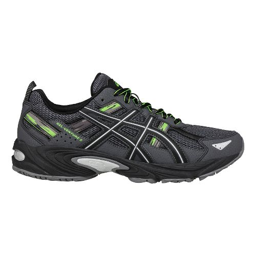 Mens ASICS GEL-Venture 5 Trail Running Shoe - Carbon/Silver 10.5