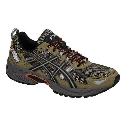 Mens ASICS GEL-Venture 5 Trail Running Shoe - Green/Black 10