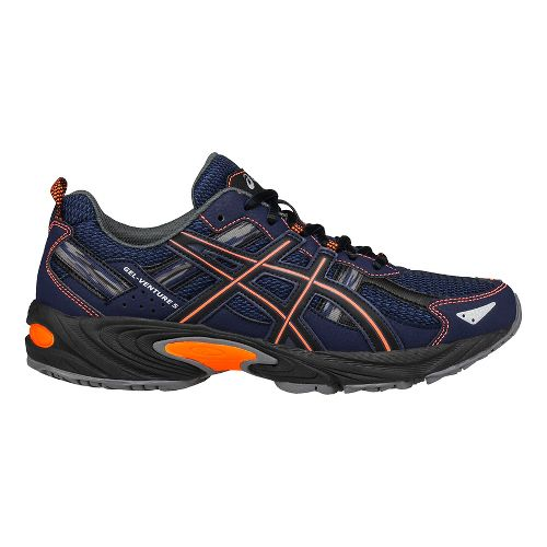 Mens ASICS GEL-Venture 5 Trail Running Shoe - Blue/Orange 10