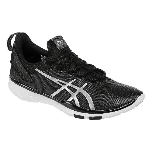 Womens ASICS GEL-Fit Sana 2 Cross Training Shoe - Black/Silver 11.5