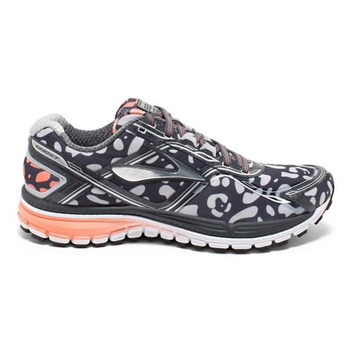 Womens Brooks Ghost 8 Urban Jungle Running Shoe - Black/Coral 6.5