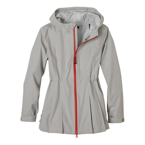 Womens Prana Nova Warm Up Hooded Jackets - Dark Khaki L