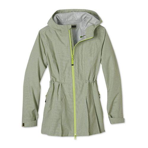 Womens Prana Nova Warm Up Hooded Jackets - Seaweed L