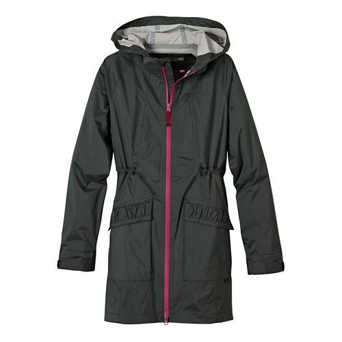 Womens Prana Portia Warm Up Hooded Jackets - Pewter L
