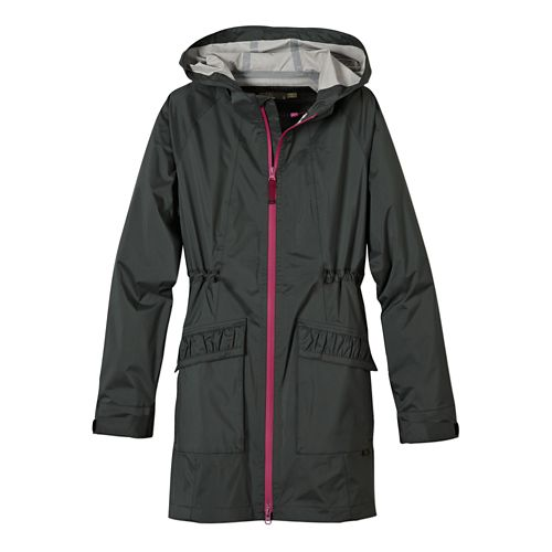 Womens Prana Portia Warm Up Hooded Jackets - Pewter M