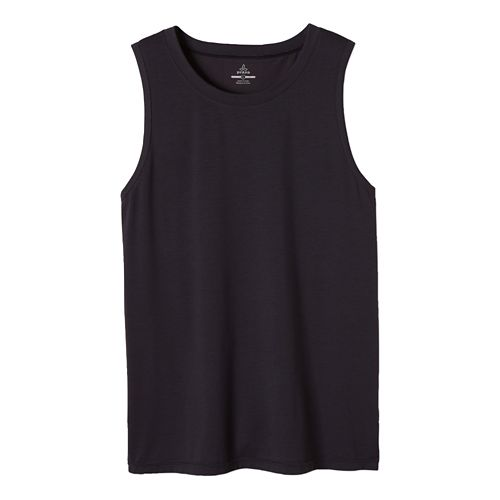 Mens prAna Ridge Tech Sleeveless & Tank Technical Tops - Coal M