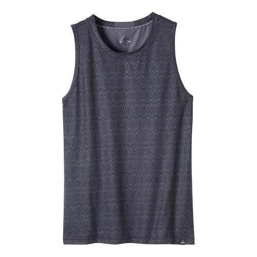 Mens prAna Ridge Tech Sleeveless & Tank Technical Tops - Coal XL