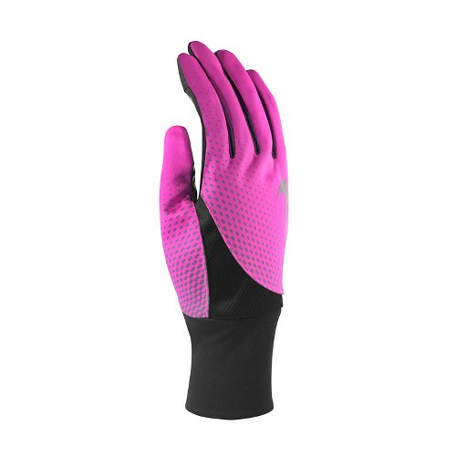Womens Nike Dri-Fit Tailwind Run Gloves Handwear - Pink Pow M