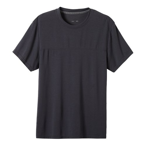 Mens Prana Ridge Tech T Short Sleeve Technical Tops - Coal L