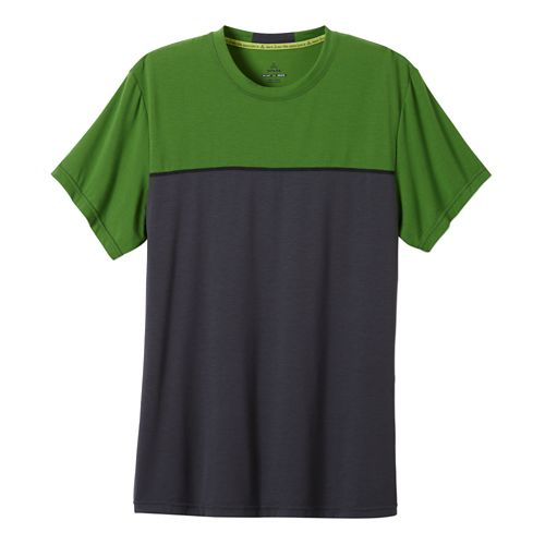 Mens Prana Ridge Tech T Short Sleeve Technical Tops - Seaweed L