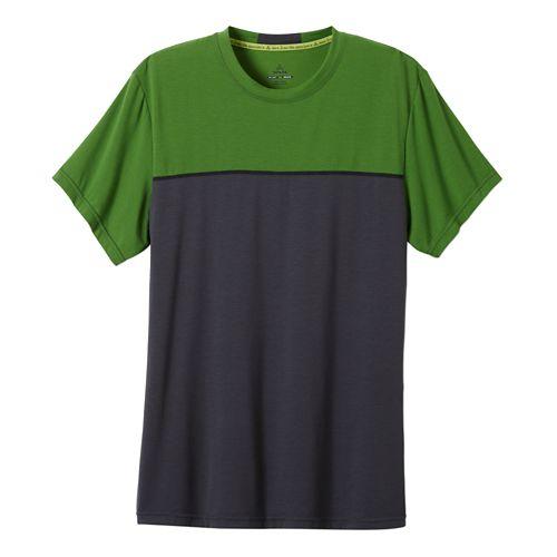 Mens Prana Ridge Tech T Short Sleeve Technical Tops - Seaweed M
