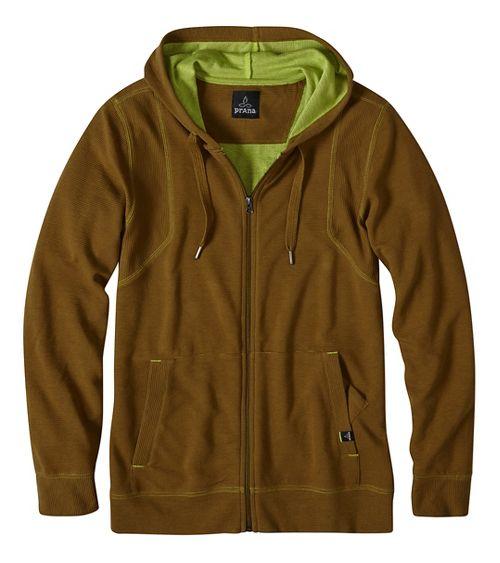 Mens prAna Barringer Half-Zips & Hoodies Non-Technical Tops - Green S