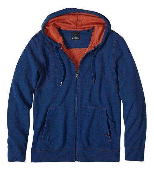 Mens prAna Barringer Half-Zips & Hoodies Non-Technical Tops - Blue M