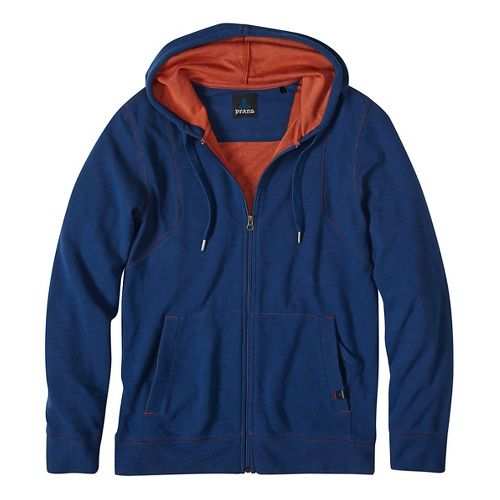 Mens prAna Barringer Half-Zips & Hoodies Non-Technical Tops - Blue M